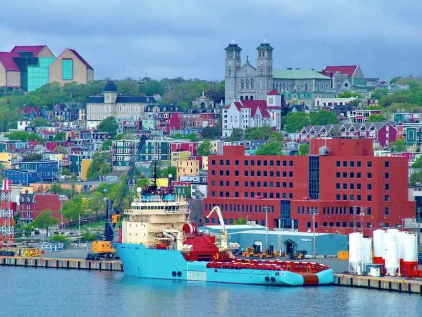 ship in St. John's harbour
