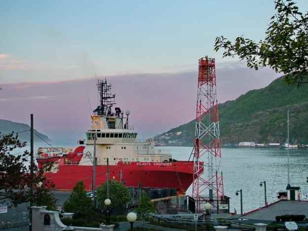 an image of a ship docked in St. John's harbour, Newfoundland, Canada