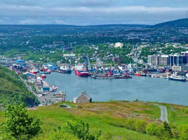 an image of a busy harbour scene, St. John's, Newfoundland, Canada