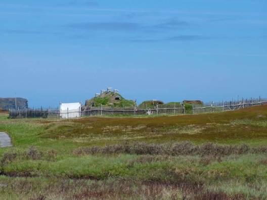 viking village at l'anse aux meadows, unesco world heritage site, newfoundland, canada