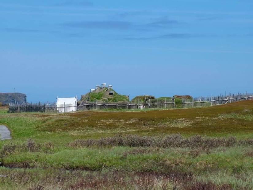 Viking village at l'anse aux meadows, newfoundland, canada