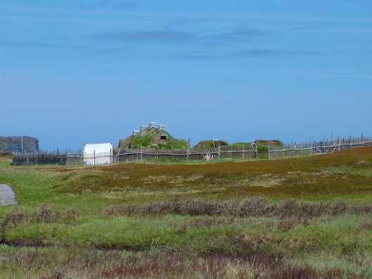 viking village at l'anse aux meadows, unesco world heritage site, newfoundland, canada