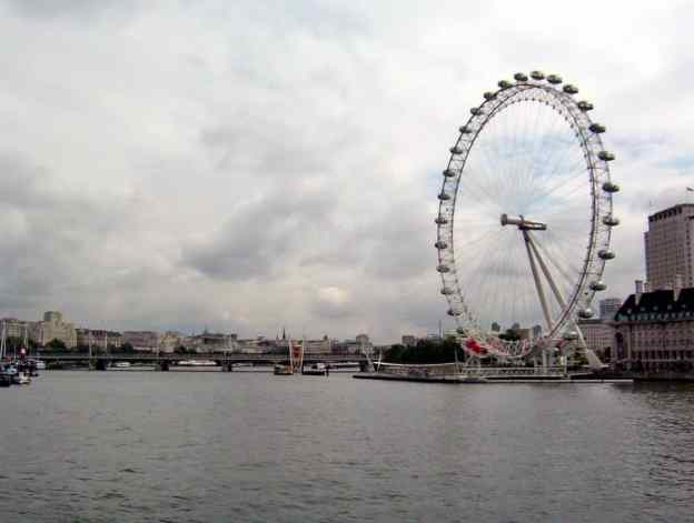 An image of the Millennium Wheel or the London Eye in London, England.