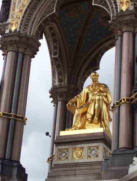 An image of the Prince Albert statue in Prince Albert Hall in London, England.
