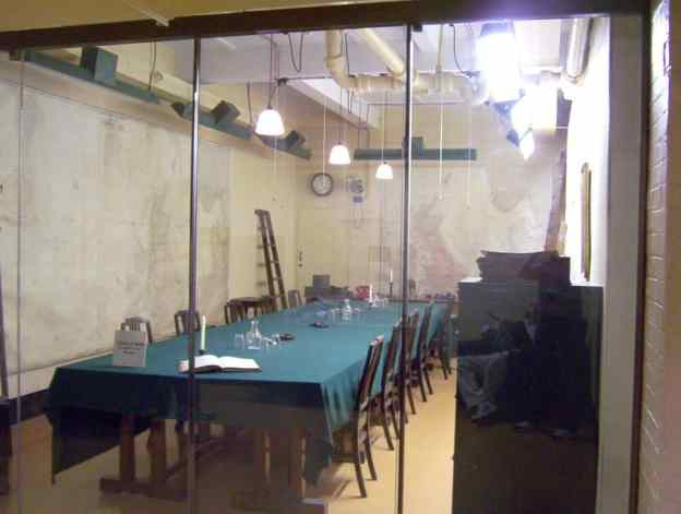 An image of the command centre in the Cabinet War Rooms in London, England.