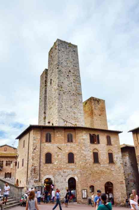 Image of the towers in San Gimignano, Italy.