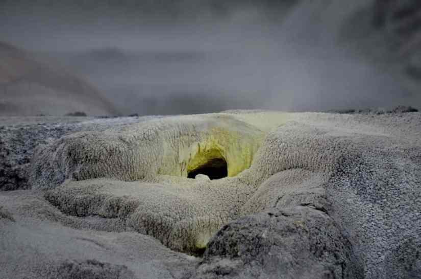 Image of vent hole at Te Puia Geothermal Preserve, Rotorua, New Zealand