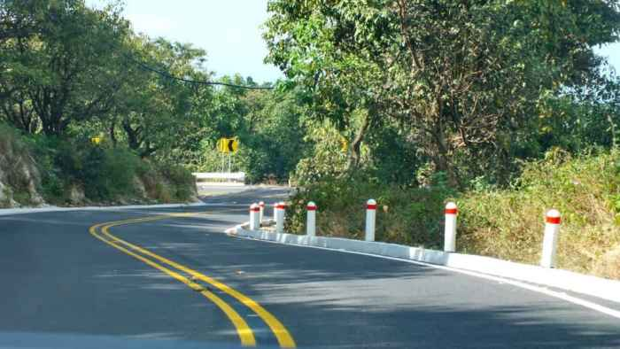 Roadway in Tepic, Mexico.