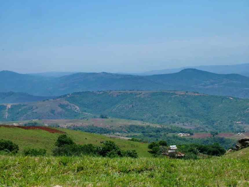 landscape in swaziland, africa