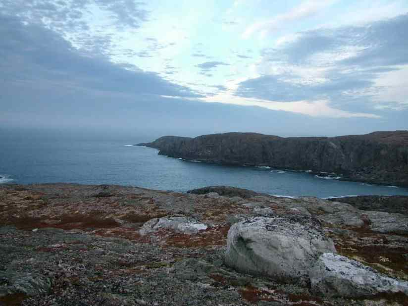 a view from the cliffs on quirpon island, newfoundland, canada