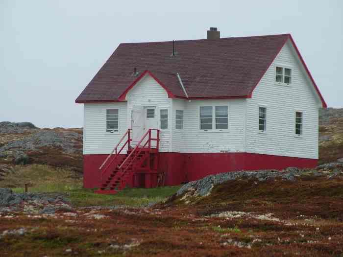 the guest house on quirpon island, newfoundland