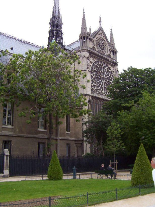 South Transept Rose Window, notre dame cathedral, paris, france
