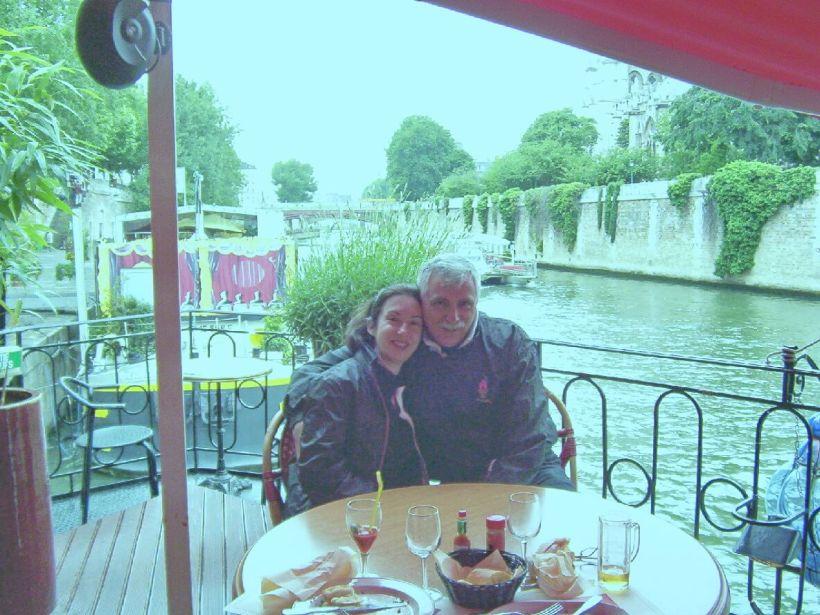 bob and jean along the seine river, paris, france