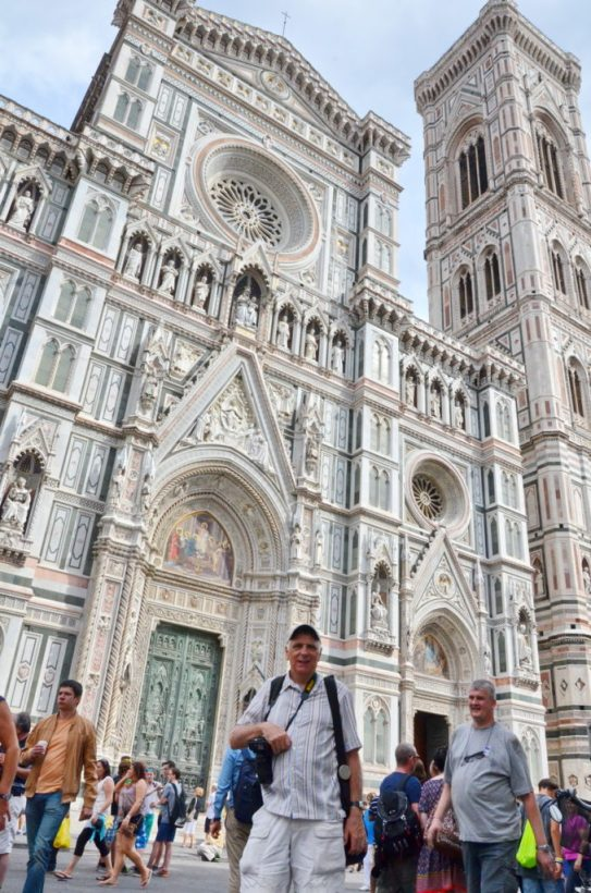 bob at the florence cathedral, florence, italy