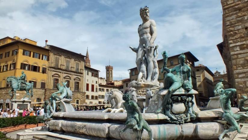 fountain of neptune, Piazza della Signoria, florence, italy