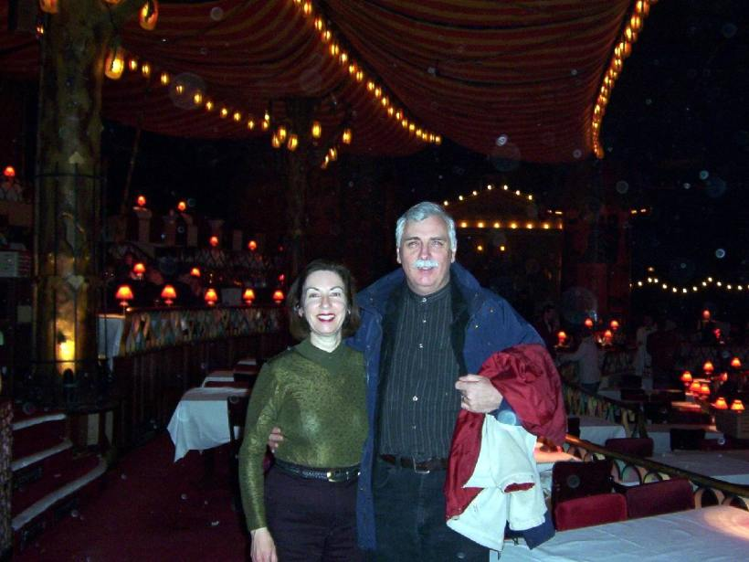 bob and jean inside moulin rouge, paris, france