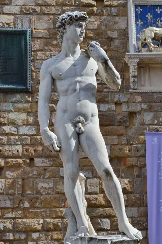 michelangelo's david, Piazza della Signoria, florence, italy