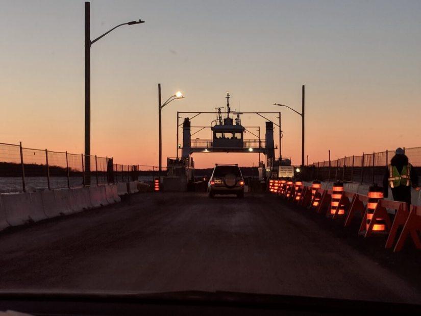 frontenac II car ferry, amherst island, ontario