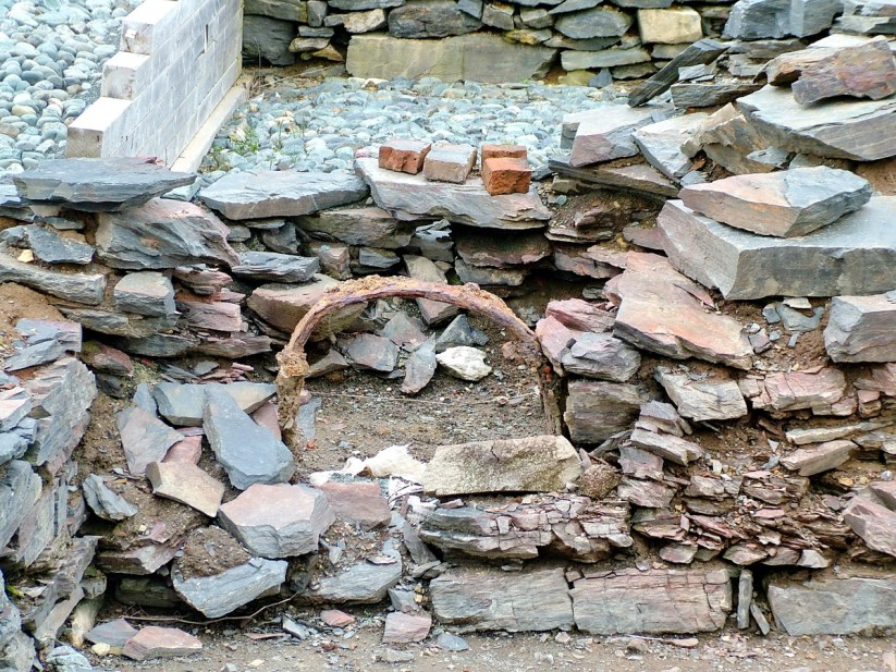 ruins, at the archaeology dig, lost colony of avalon, newfoundland, canada