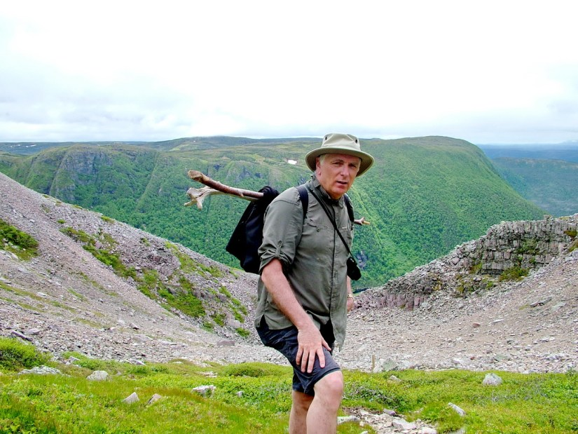 bob on gros morne mountain, newfoundland, canada