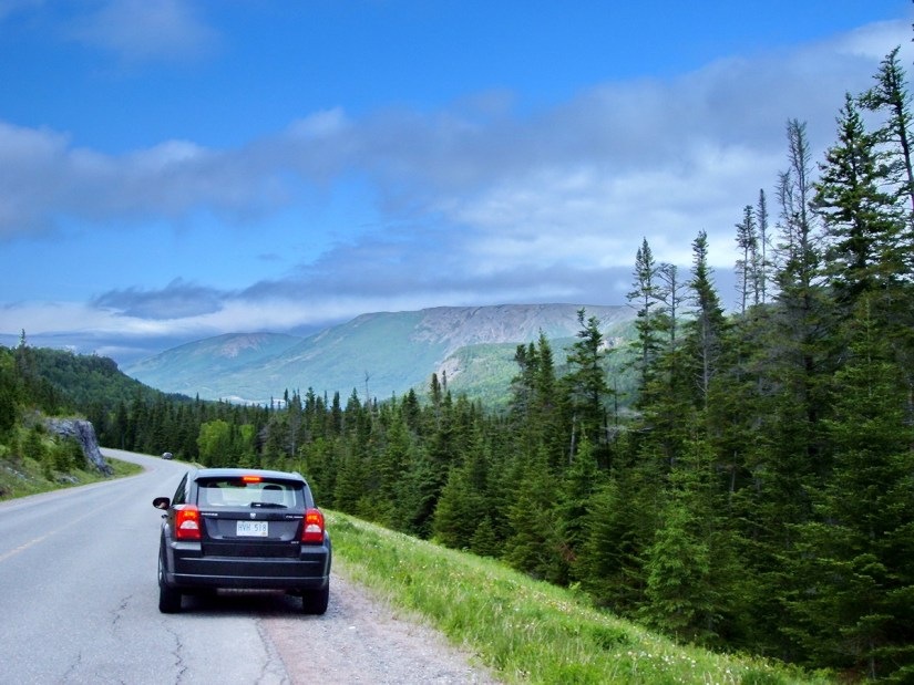 highway near the tablelands, newfoundland, canada