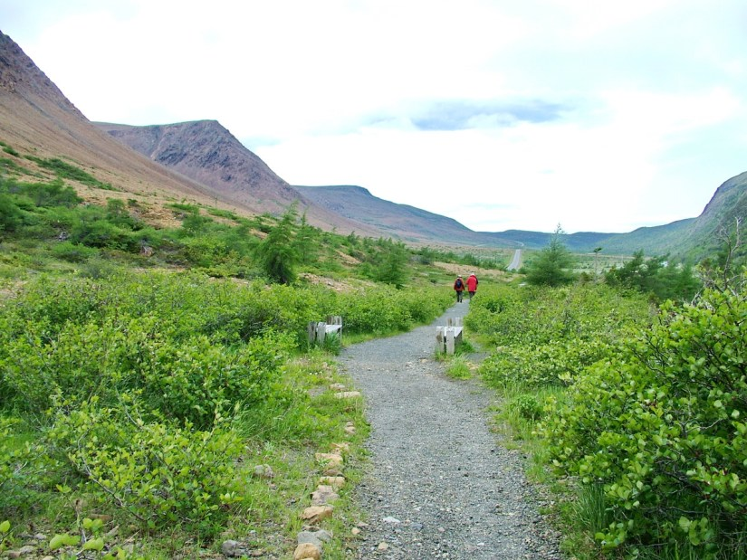 the tablelands trail, newfoundland, canada