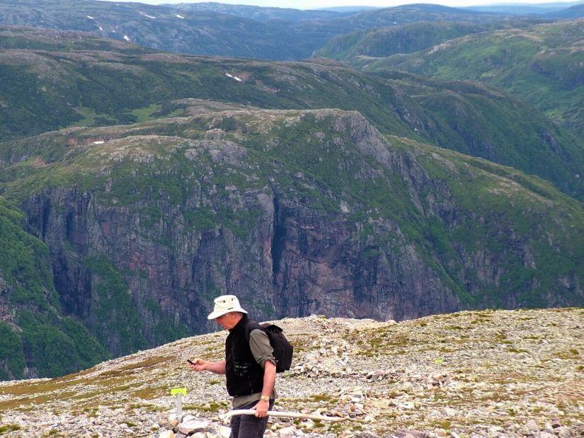 long range mountains as seen from gros morne mountain, newfoundland, canada