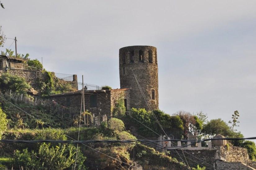 belforte tower, vernazza, cinque terre, italy