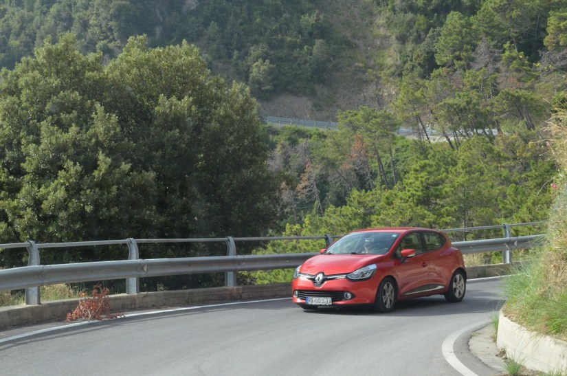a mountain road, cinque terre, italy