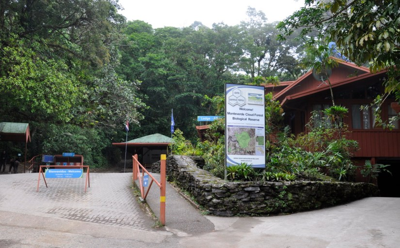 entrance of monteverde cloud forest preserve, costa rica