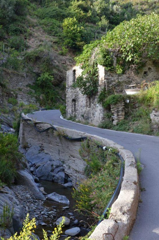 sinuous road, vernazza, cinque terre, italy
