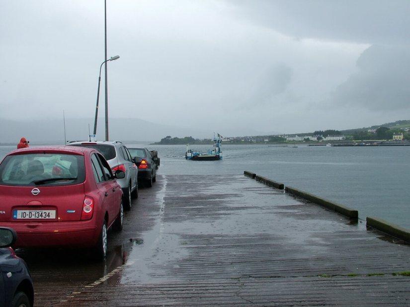 car ferry to valentia island, reenard point, skellig ring, ireland