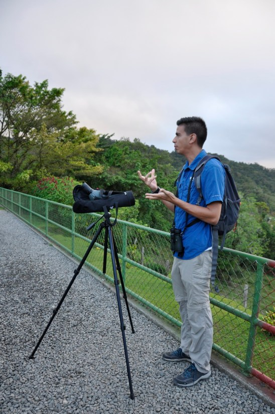 a guide, mistico arenal hanging bridges park, la fortuna, costa rica