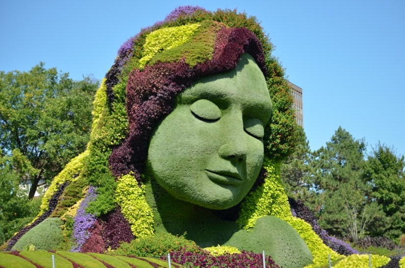 mother earth, mosaiculture 2018, gatineau, quebec, canada