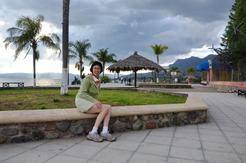 jean on the malecon, promenade, ajijic, lake chapala, mexico