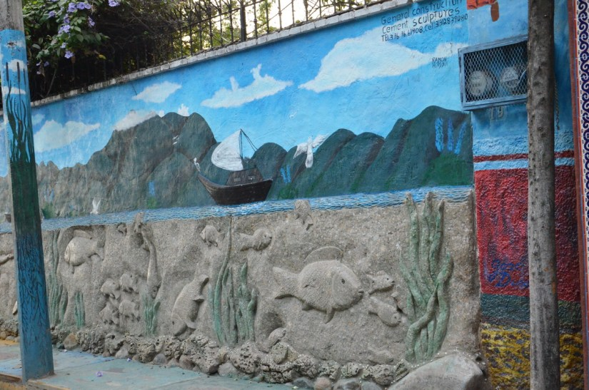 street art along the malecon, ajijic, lake chapala, mexico