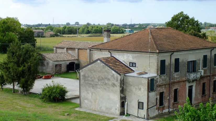 a residence and outbuildings, po river delta, italy