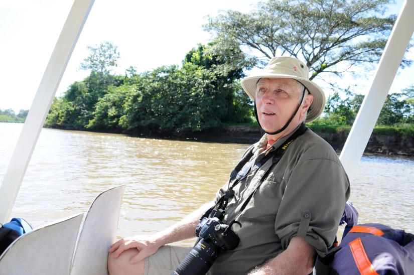 bob on a river tour, cano negro wildlife refuge, costa rica
