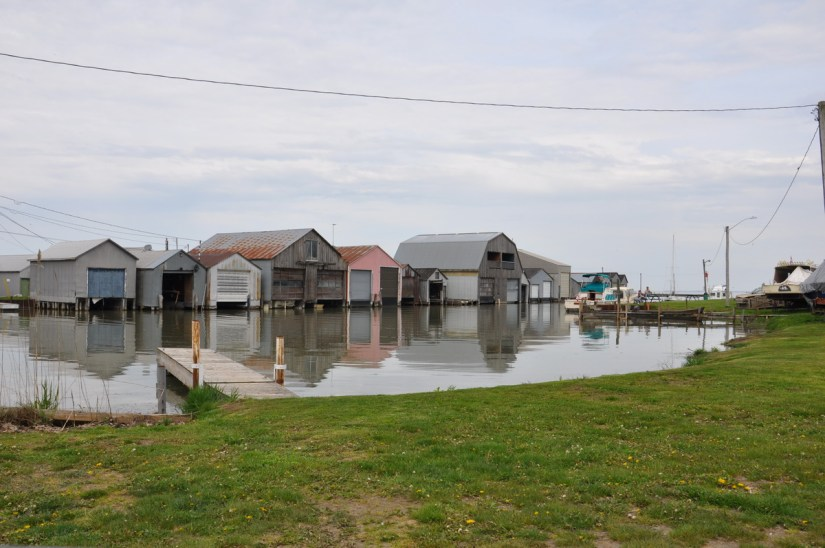 a harbour scene, long point, ontario