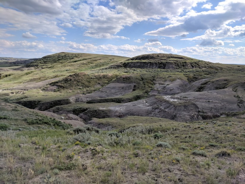 badlands, valley of 1000 devils route, grasslands national park east block, saskatchewan