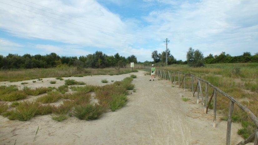 jean at oasi di ca' mello, oasis of ca' mello, parco regionale veneto del delta del po, po river delta, italy