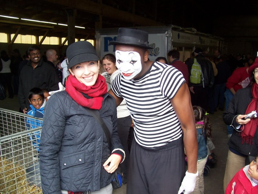 a mime, markham fair, markham, ontario, 2008