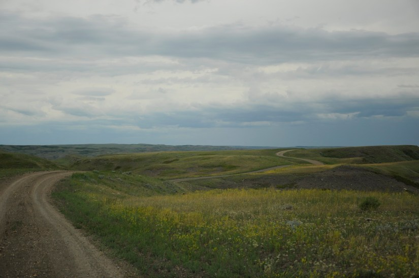 back country loop, grasslands national park, saskatchewan