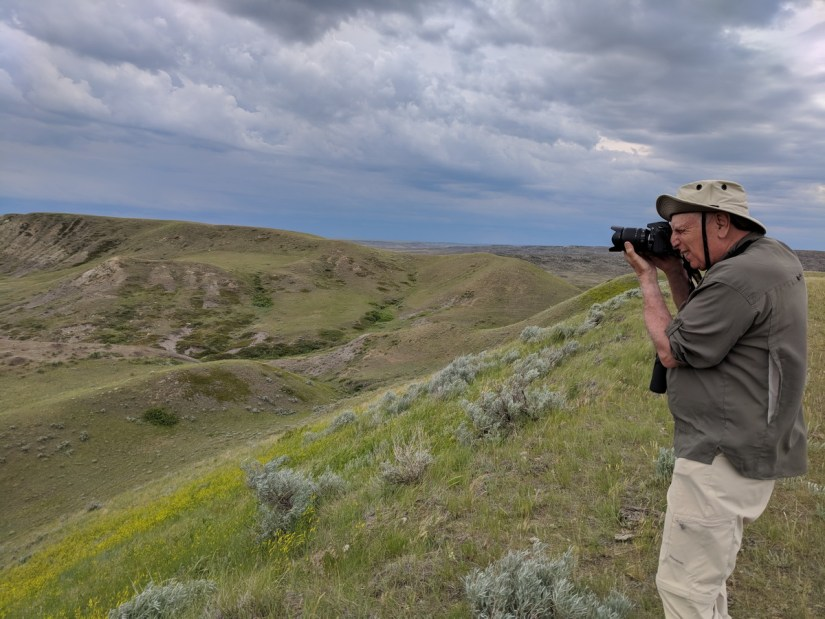 bob at borderlands lookout, grasslands national park, saskatchewan
