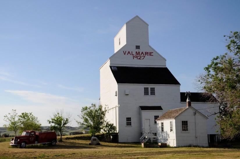 a grain elevator, val marie, saskatchewan