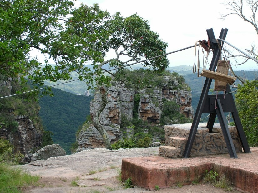 anchor for zip lines, oribi gorge, south africa