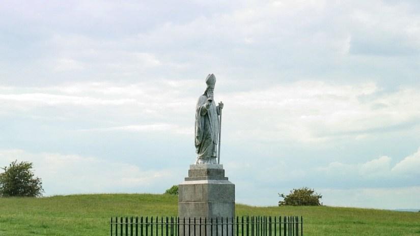 st. patrick's monument, the hill of tara, county meath, ireland