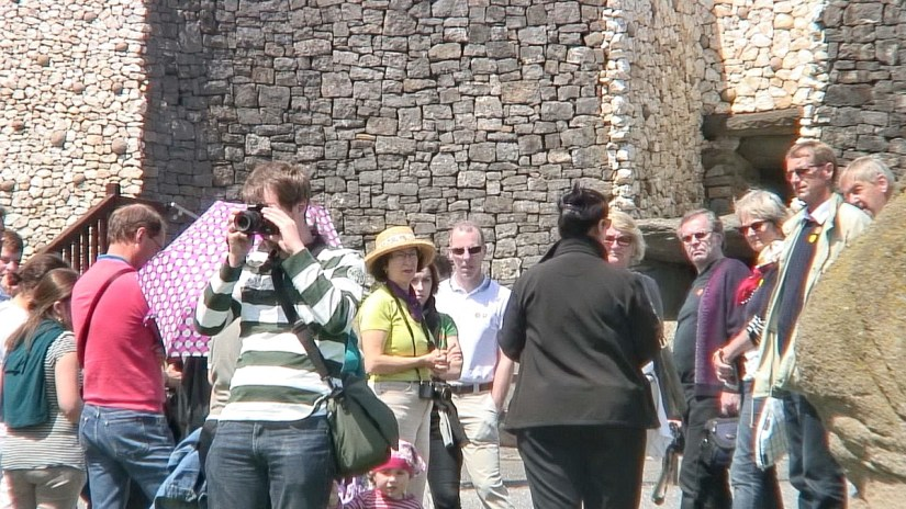 tour group, newgrange, county meath, ireland