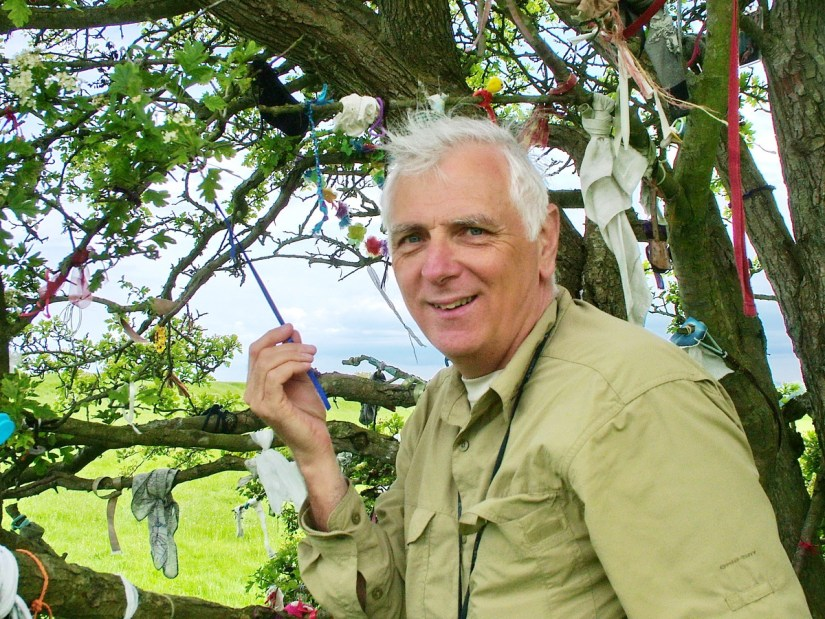 bob at the fairy tree of tara, ireland