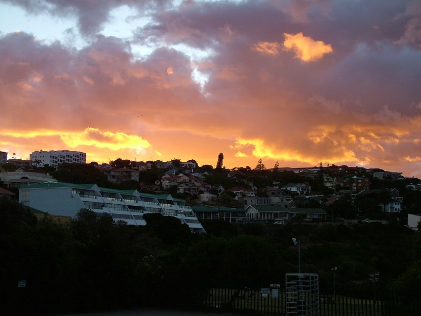 sunset over mossel bay, south africa
